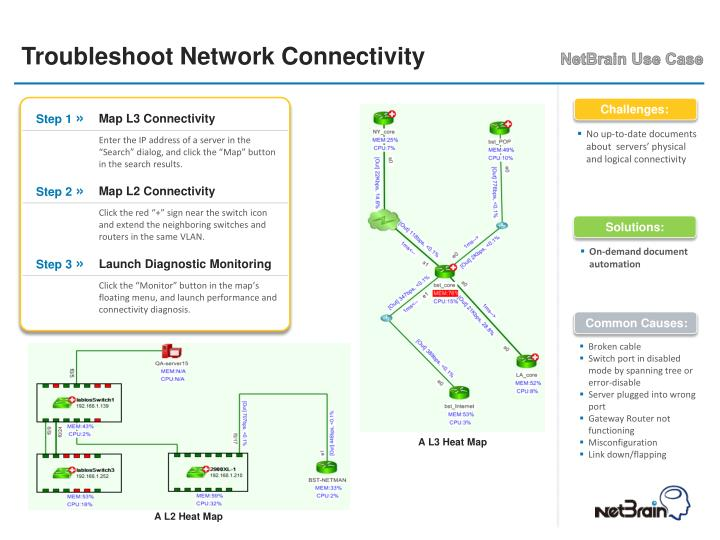 Troubleshoot network connectivity