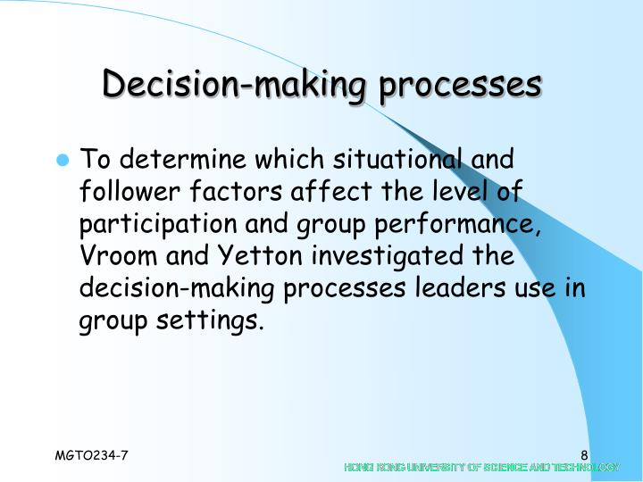 Decision-making processes