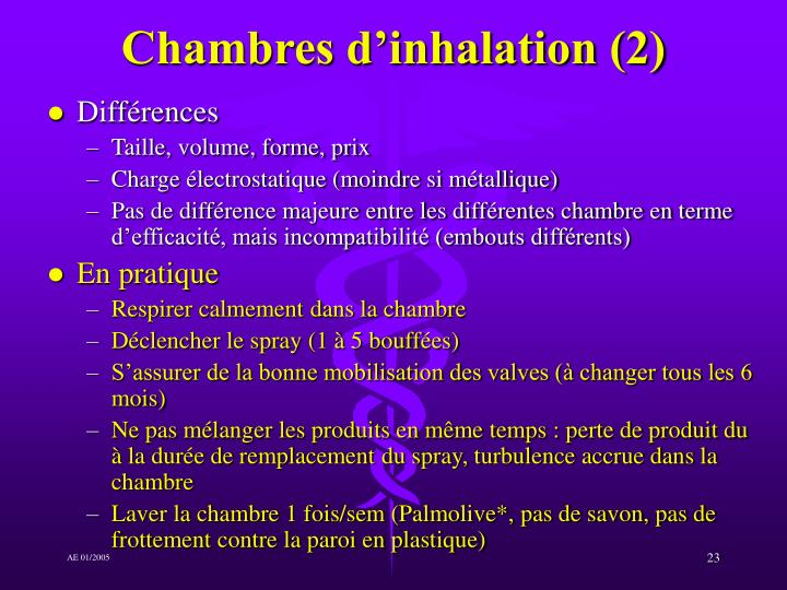 Chambres d'inhalation (2)