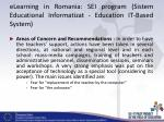elearning in romania sei program sistem educational informatizat education it based system6