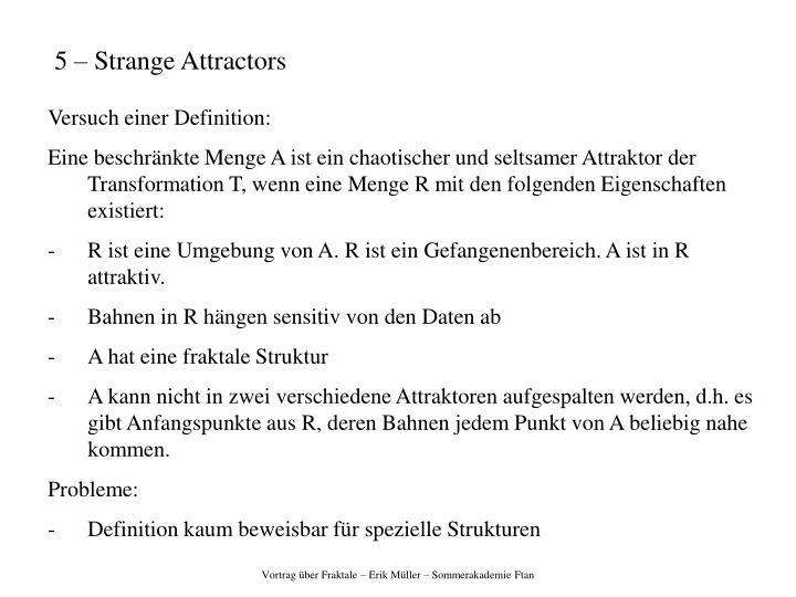 5 – Strange Attractors