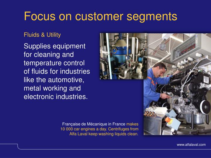 Focus on customer segments