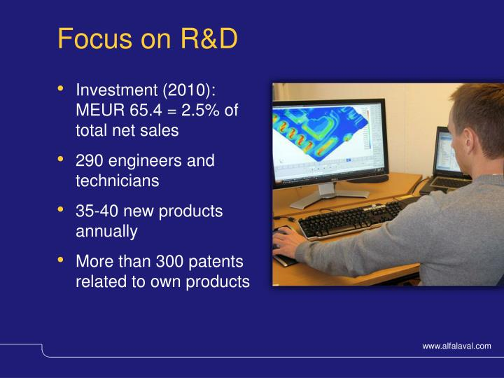 Focus on R&D