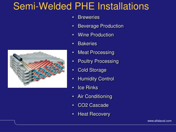 Semi-Welded PHE Installations