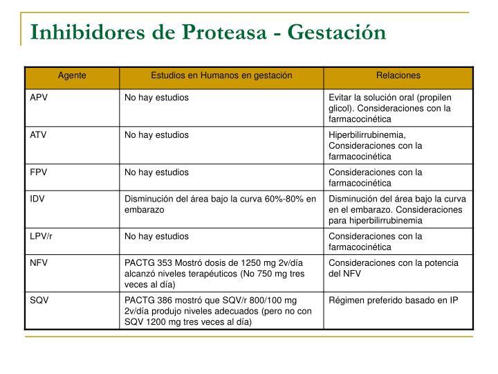 Inhibidores de Proteasa - Gestación