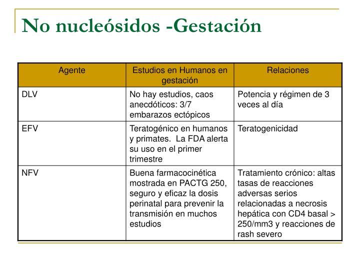 No nucleósidos -Gestación