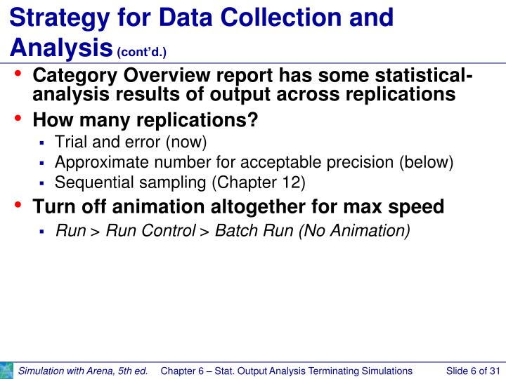 Strategy for Data Collection and Analysis