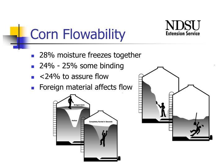 Corn flowability