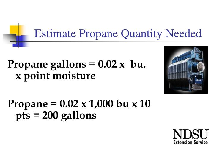 Estimate Propane Quantity Needed