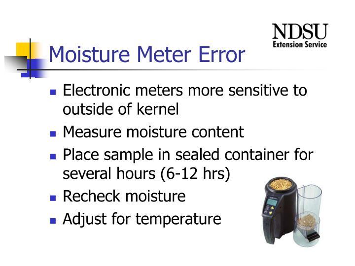 Moisture Meter Error