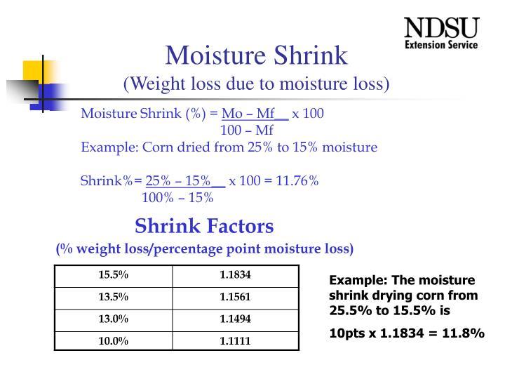 Moisture Shrink