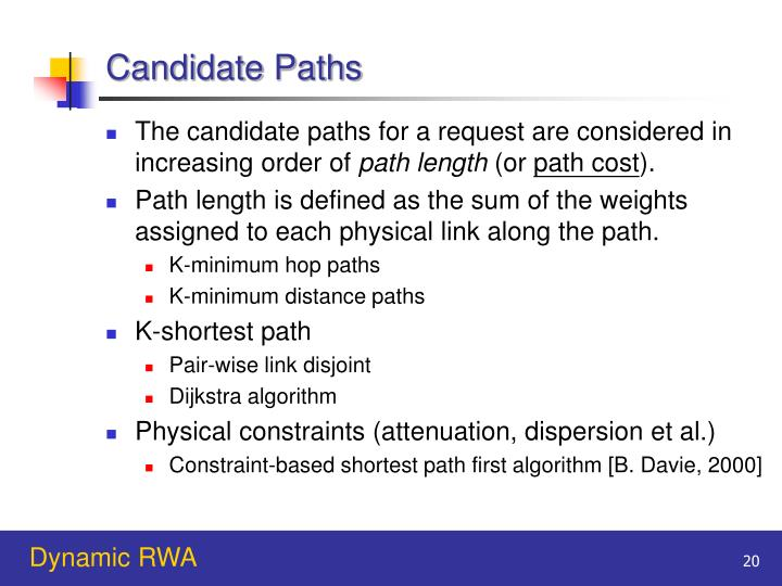 Candidate Paths