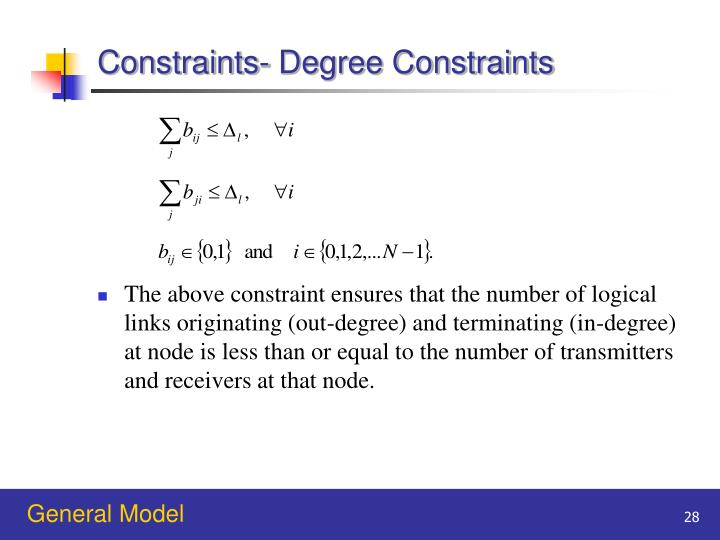 Constraints- Degree Constraints