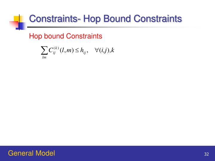 Constraints- Hop Bound Constraints