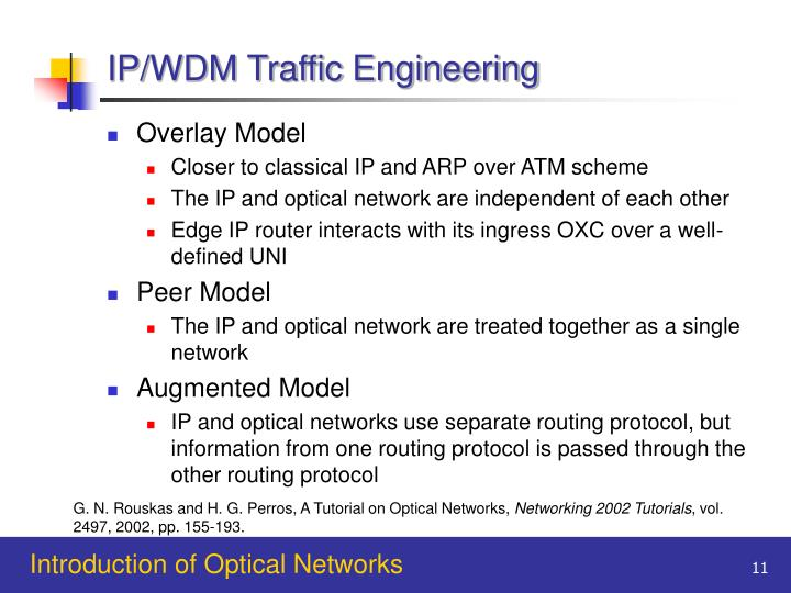 IP/WDM Traffic Engineering