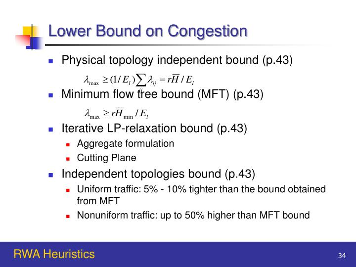 Lower Bound on Congestion