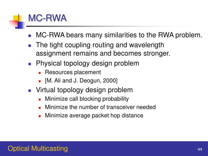 MC-RWA