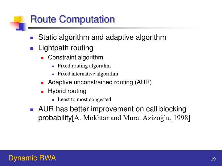 Route Computation
