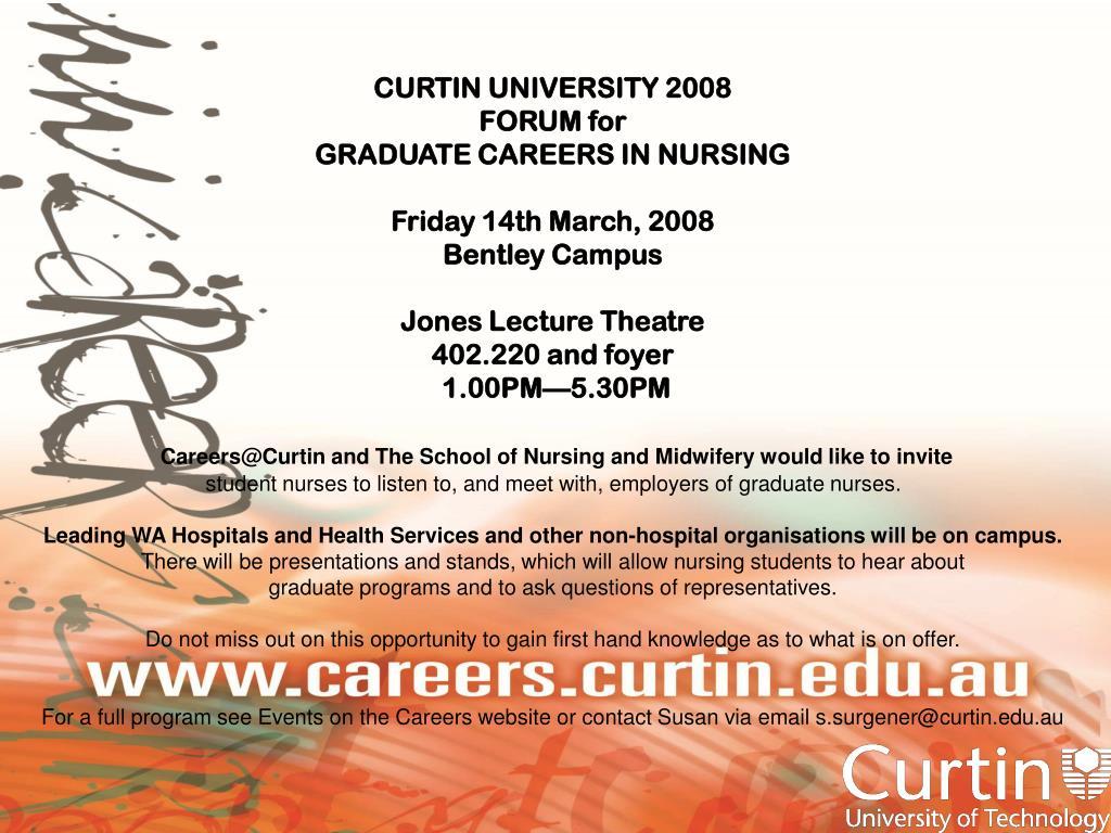 CURTIN UNIVERSITY 2008