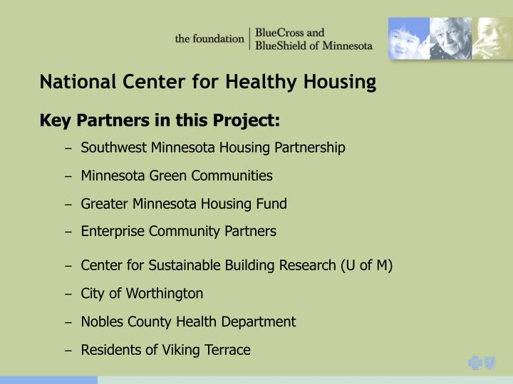 National Center for Healthy Housing