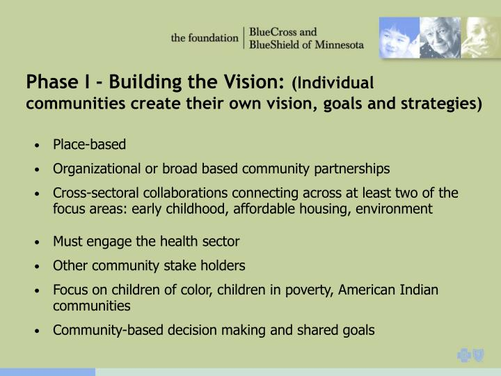 Phase I - Building the Vision: