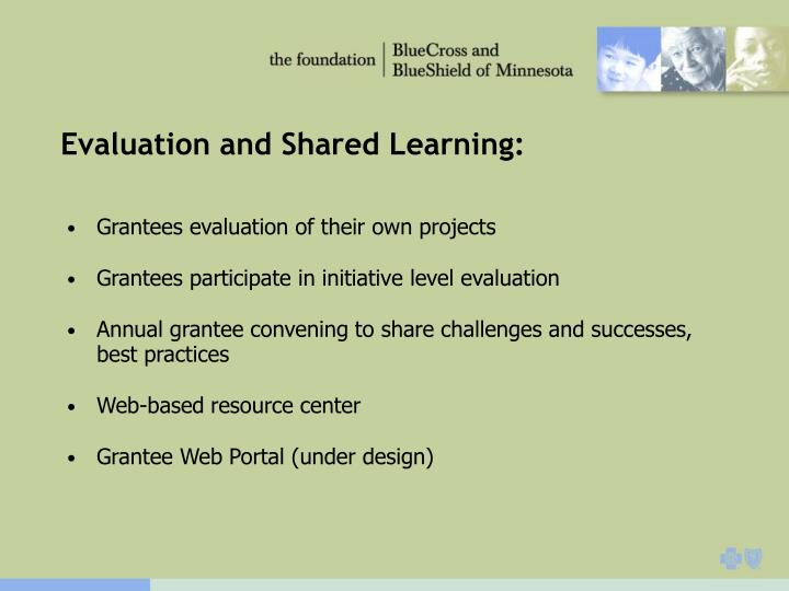 Evaluation and Shared Learning: