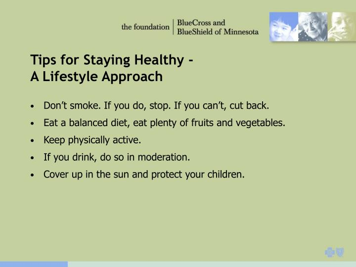 Tips for Staying Healthy -