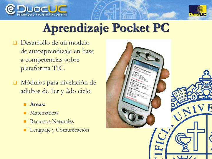 Aprendizaje Pocket PC