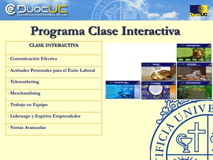 Programa Clase Interactiva
