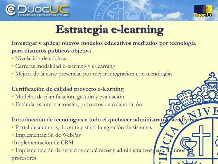 Estrategia e-learning