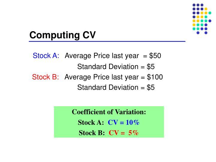 Computing CV