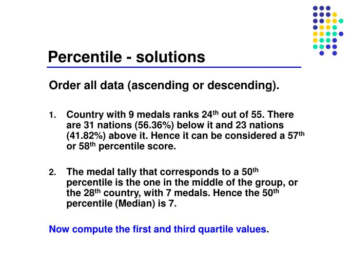 Percentile - solutions