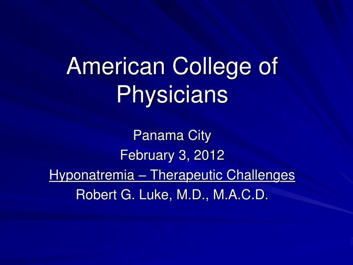 american college of physicians n.