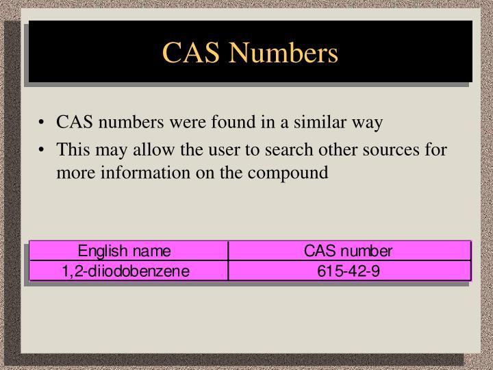 CAS Numbers