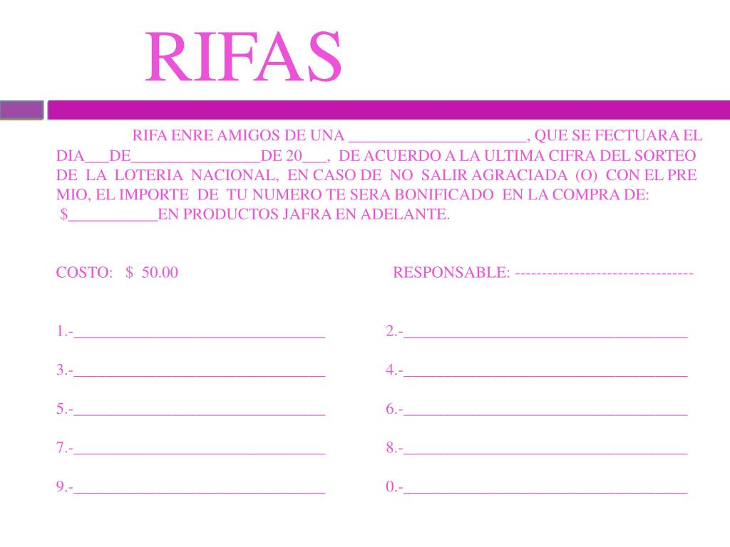 RIFAS