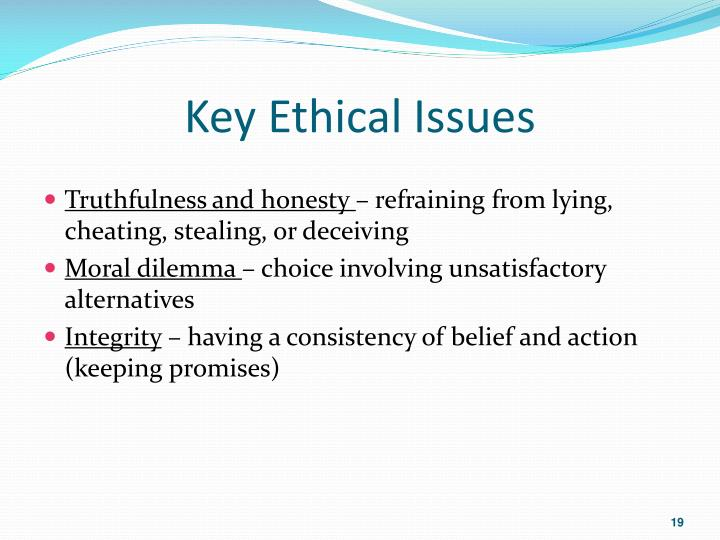Key Ethical Issues