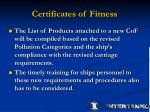 certificates of fitness1