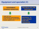 equipment and specialist v