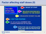 factor affecting staff doses ii