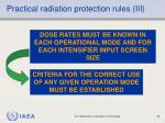 practical radiation protection rules iii