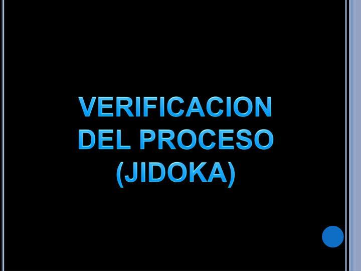 VERIFICACION DEL PROCESO (JIDOKA)