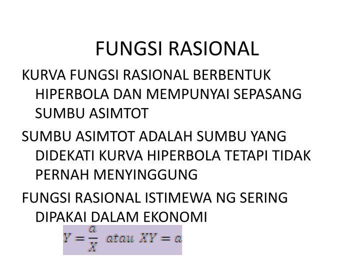 FUNGSI RASIONAL