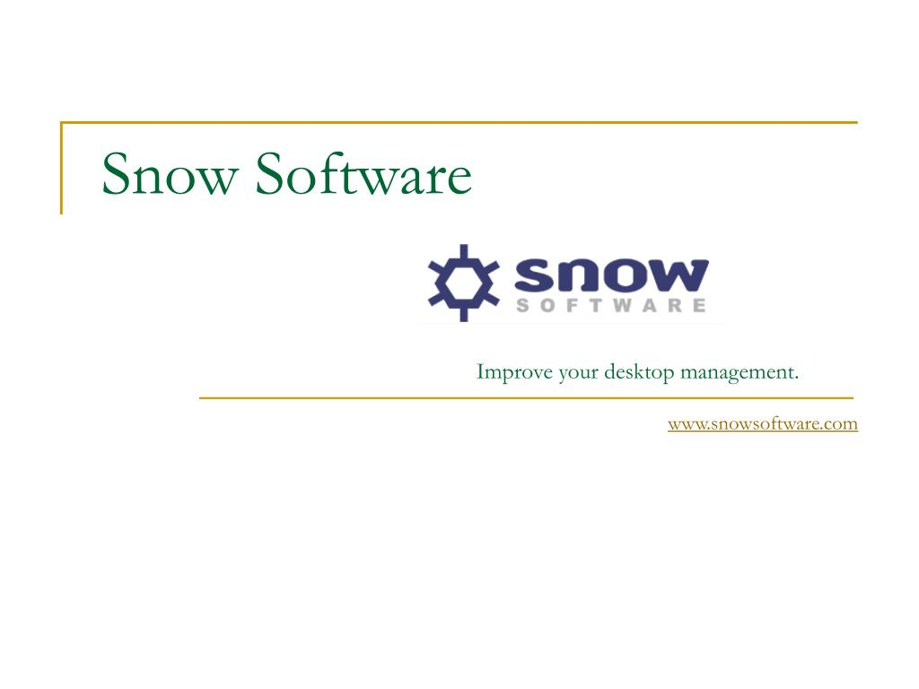 snow software l.