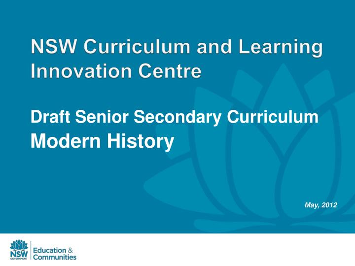 nsw curriculum and learning innovation centre n.