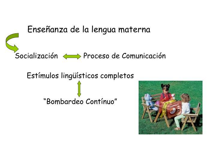 Enseñanza de la lengua materna