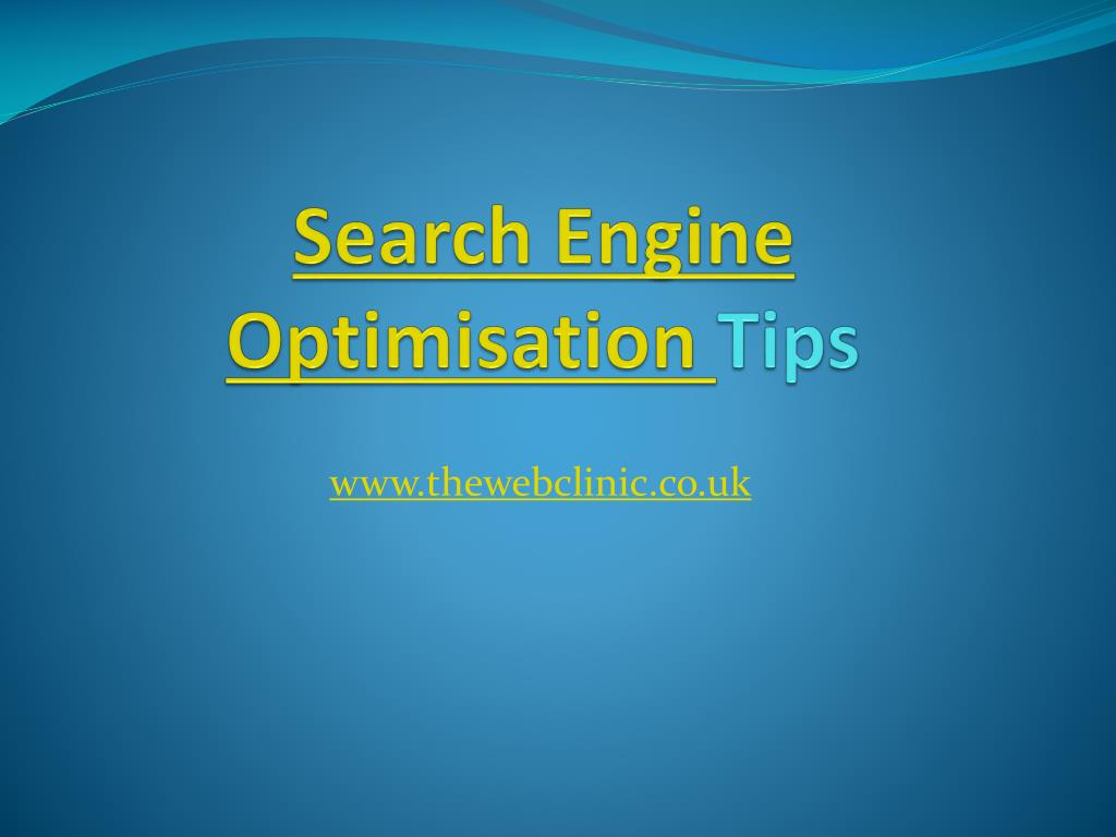 search engine optimisation tips l.