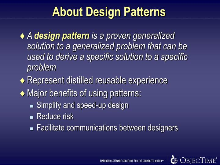 About Design Patterns