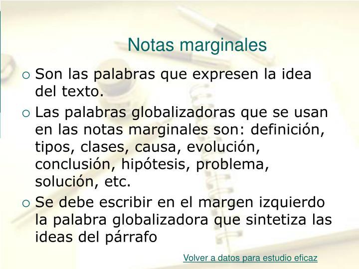 Notas marginales