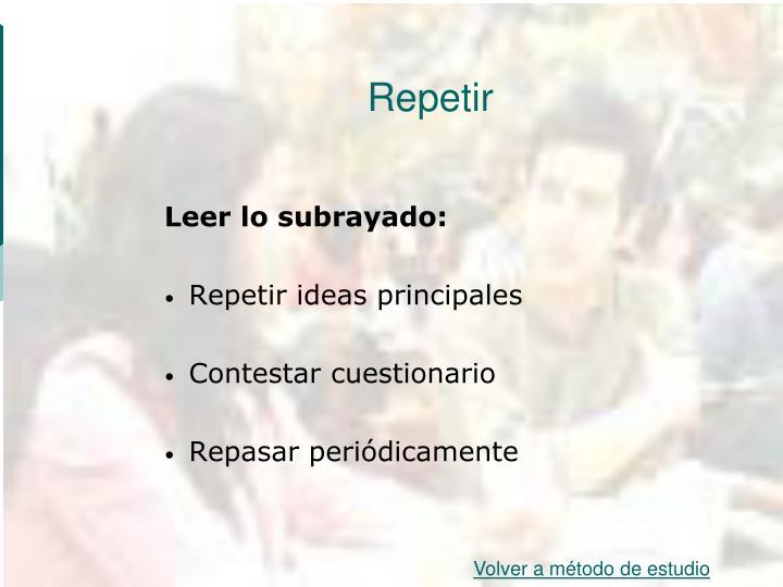 Repetir