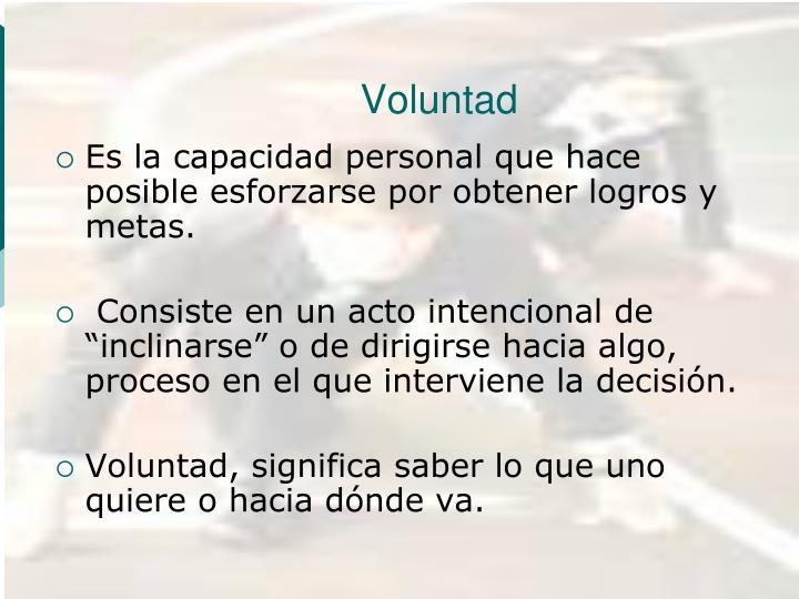 Voluntad